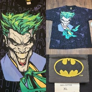 Joker mega print shirt batman superman wolverine g